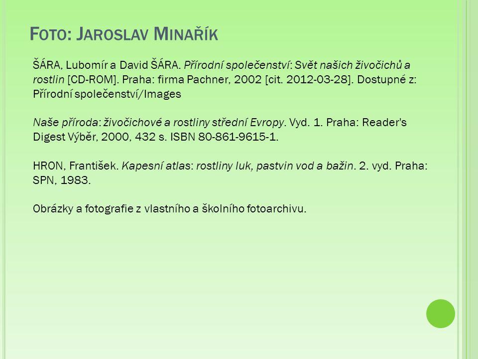 F OTO : J AROSLAV M INAŘÍK ŠÁRA, Lubomír a David ŠÁRA.