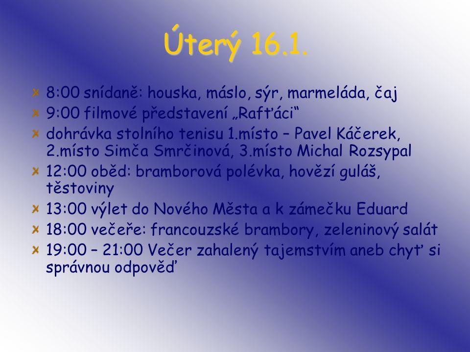 Úterý 16.1.