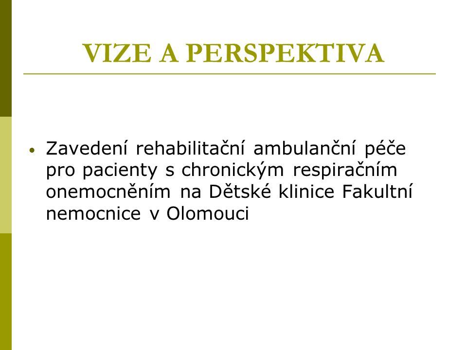 VIZE A PERSPEKTIVA Zavedení rehabilitační ambulanční péče pro pacienty s chronickým respiračním onemocněním na Dětské klinice Fakultní nemocnice v Olomouci