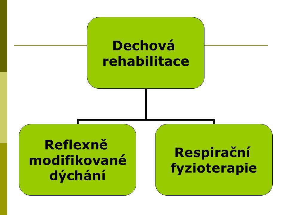 Dechová rehabilitace Reflexně modifikované dýchání Respirační fyzioterapie