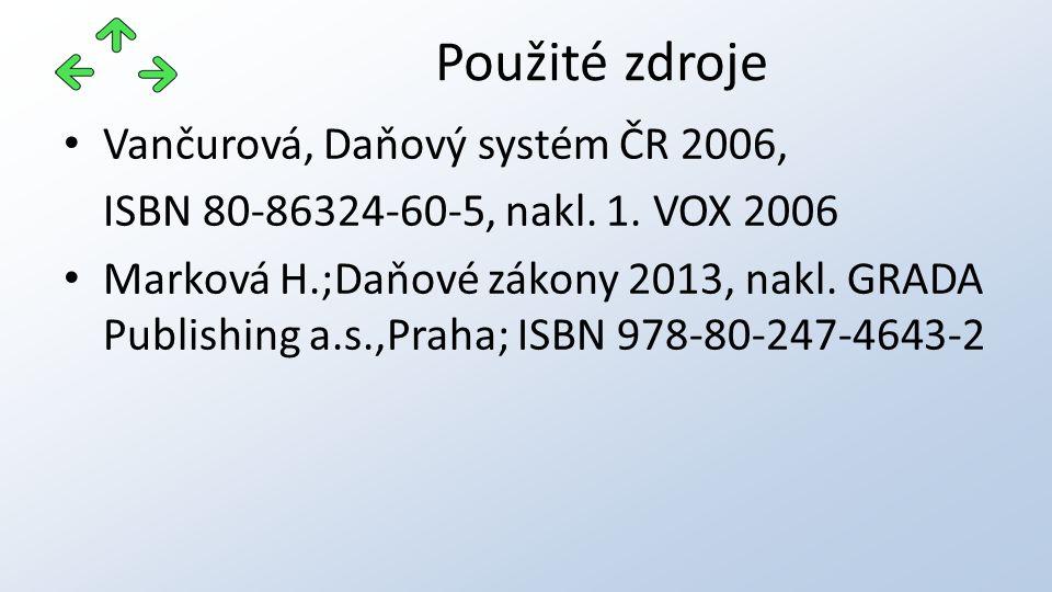 Vančurová, Daňový systém ČR 2006, ISBN 80-86324-60-5, nakl.