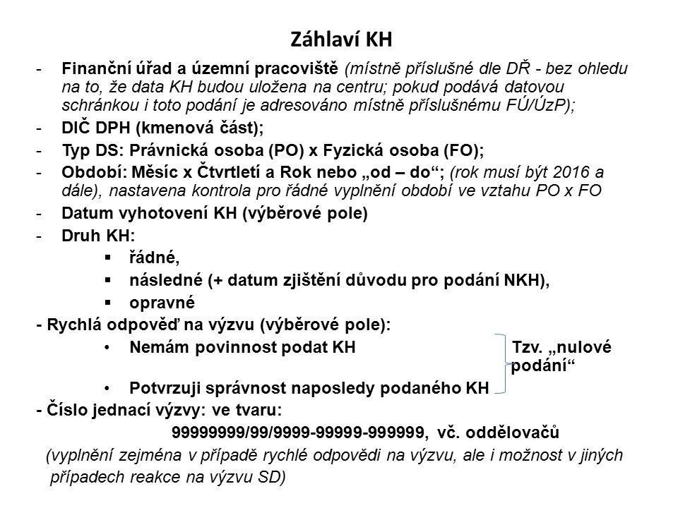 Část C – Kontrolní řádky na DAP DPH Řádek DAP DPHHodnota základu daně 1A.4.