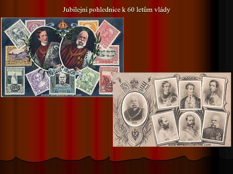 Jubilejní pohlednice k 60 letům vlády