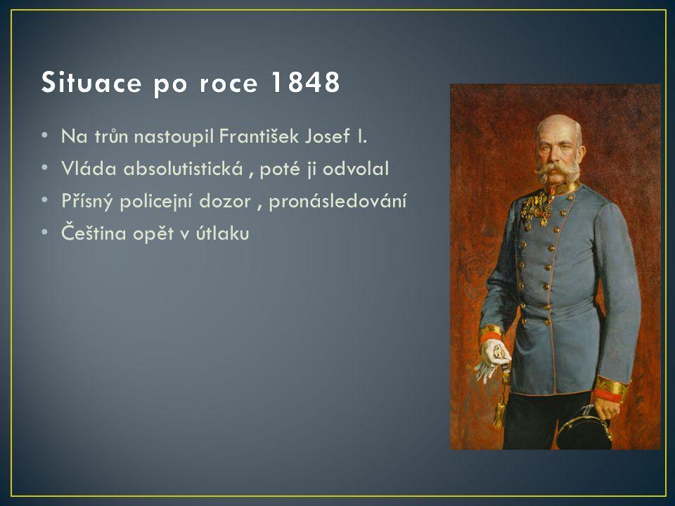 Na trůn nastoupil František Josef I.