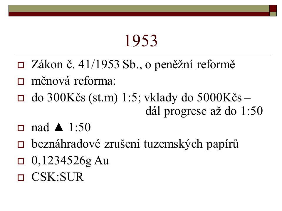 1953  Zákon č.