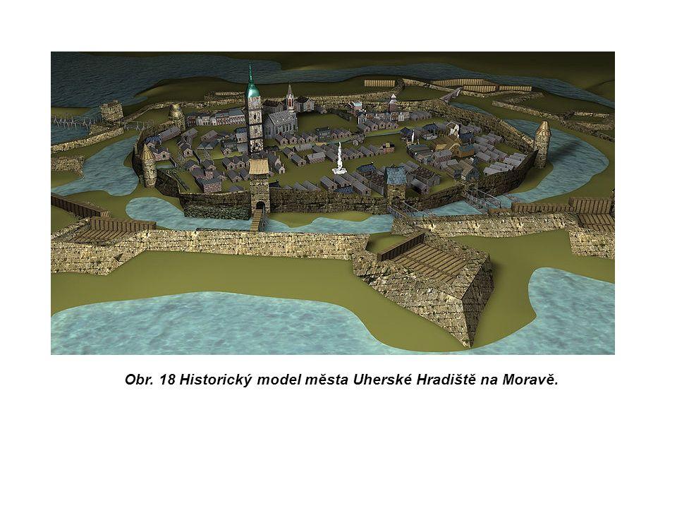 Obr. 18 Historický model města Uherské Hradiště na Moravě.