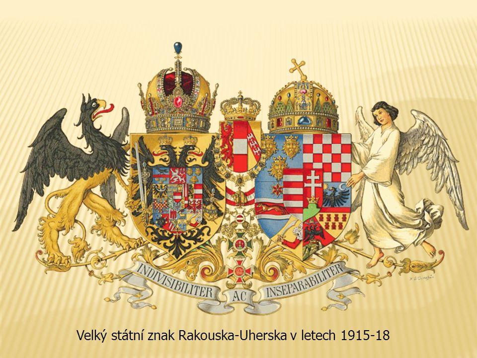 Velký státní znak Rakouska-Uherska v letech 1915-18