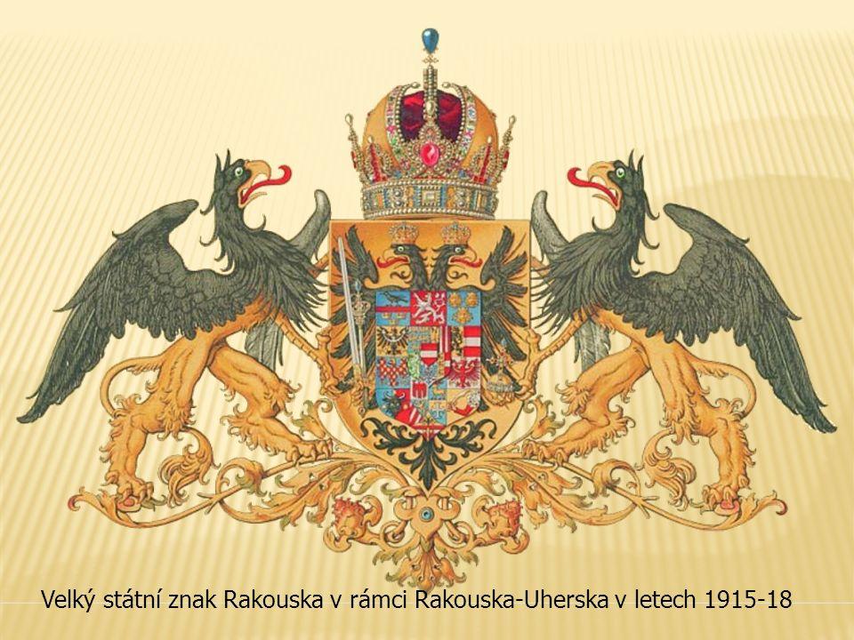 Velký státní znak Rakouska v rámci Rakouska-Uherska v letech 1915-18