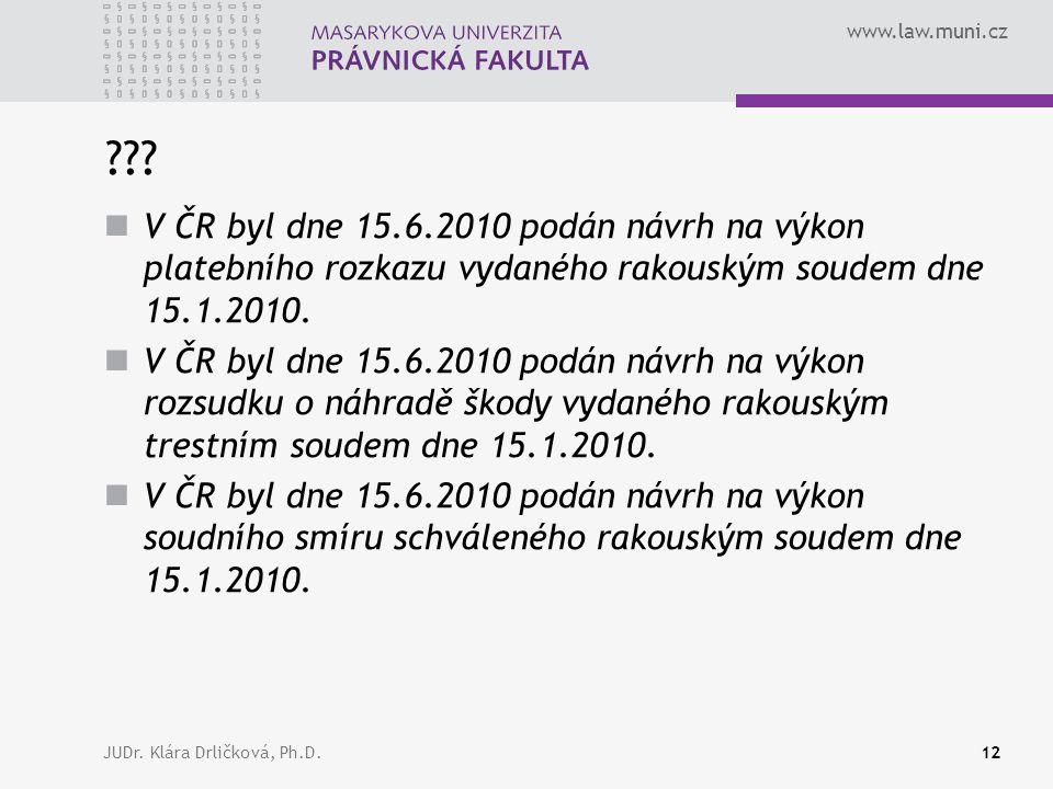 www.law.muni.cz JUDr. Klára Drličková, Ph.D.12 ??.