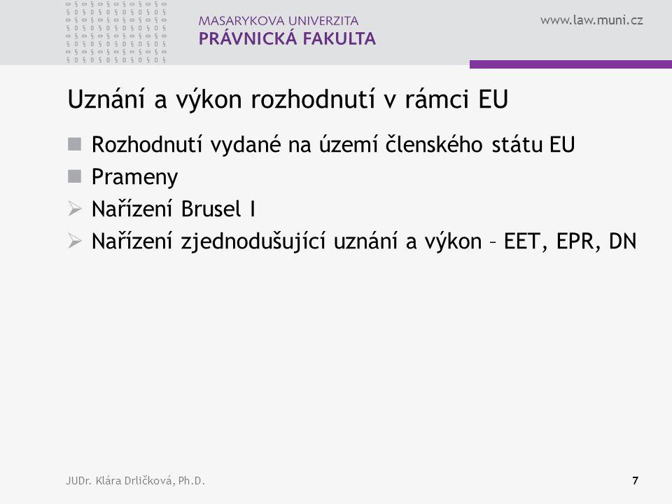 www.law.muni.cz JUDr.Klára Drličková, Ph.D.38 ??.