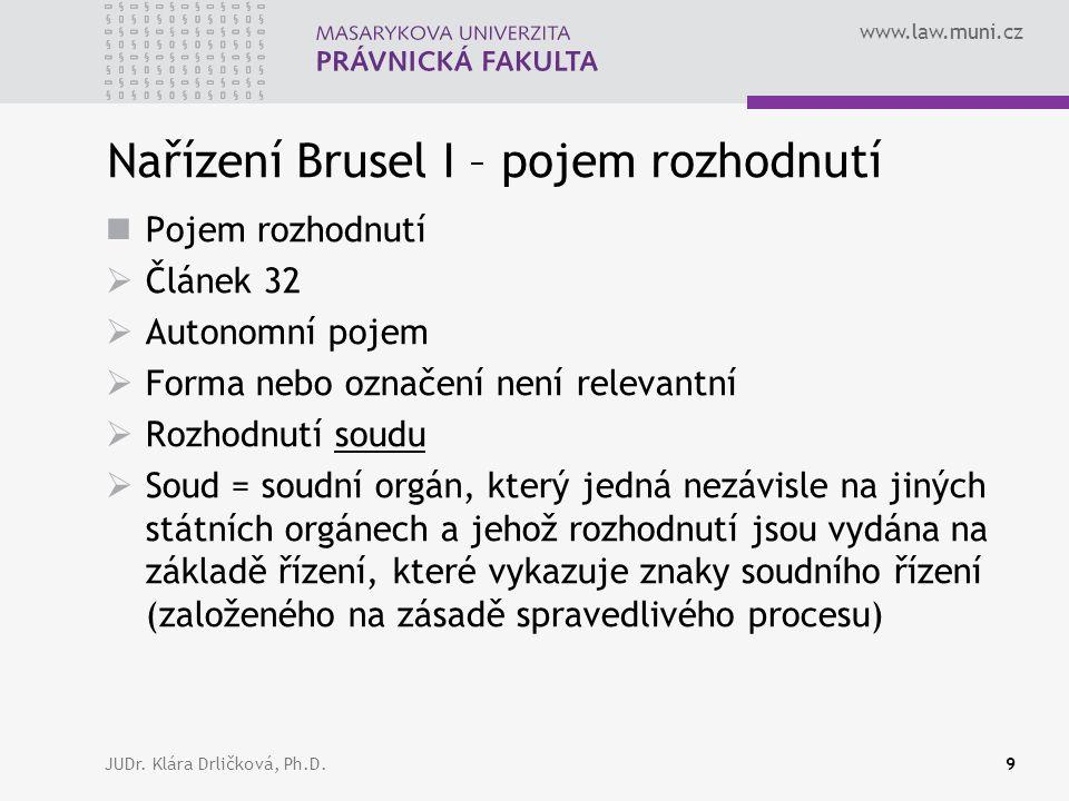 www.law.muni.cz JUDr.Klára Drličková, Ph.D.10 ??.