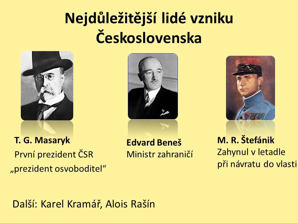 Nejdůležitější lidé vzniku Československa T. G.