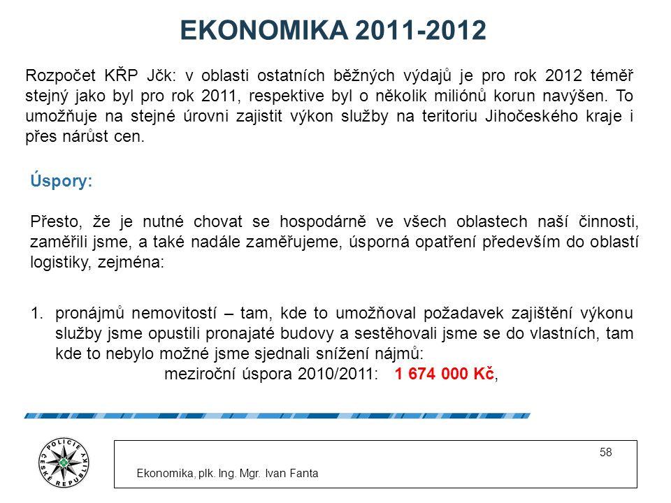 EKONOMIKA 2011-2012 Ekonomika, plk. Ing. Mgr.