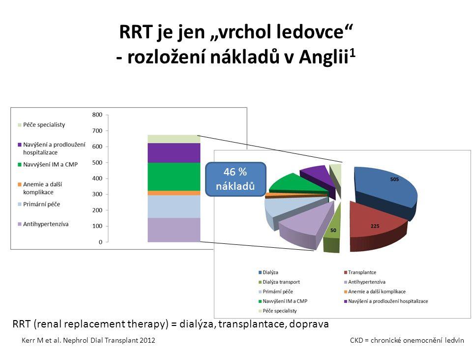 """RRT je jen """"vrchol ledovce - rozložení nákladů v Anglii 1 Kerr M et al."""