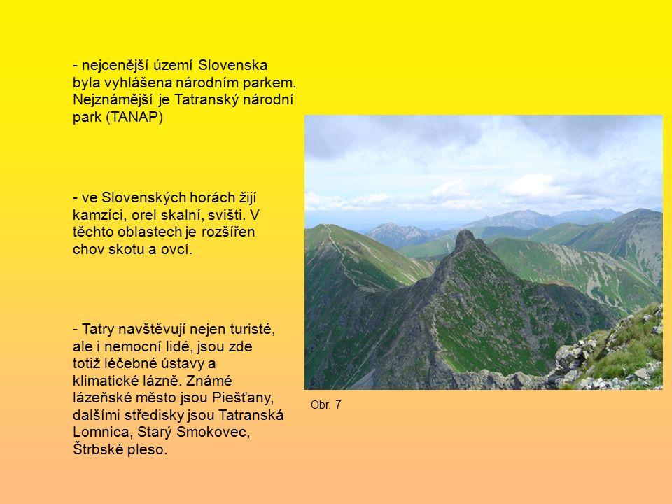 - nejcenější území Slovenska byla vyhlášena národním parkem.