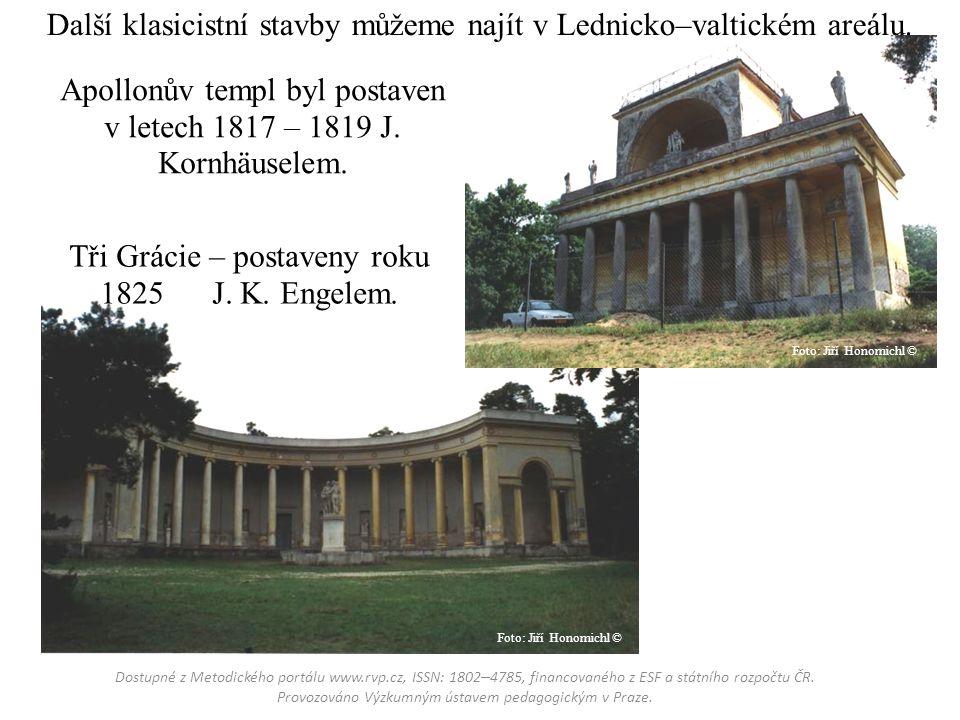 Apollonův templ byl postaven v letech 1817 – 1819 J.