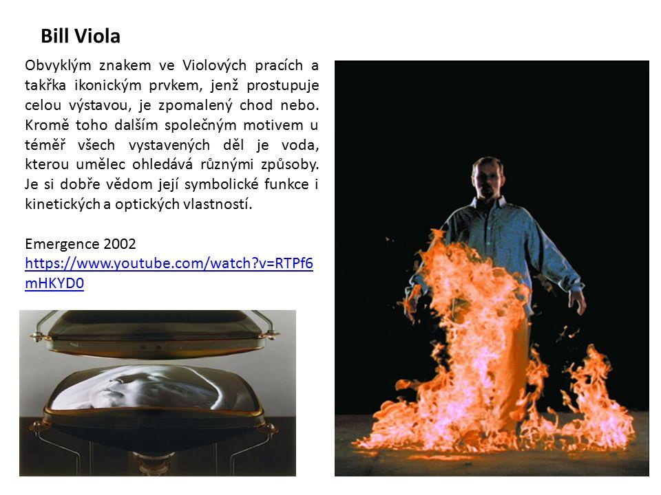 Bill Viola Obvyklým znakem ve Violových pracích a takřka ikonickým prvkem, jenž prostupuje celou výstavou, je zpomalený chod nebo.