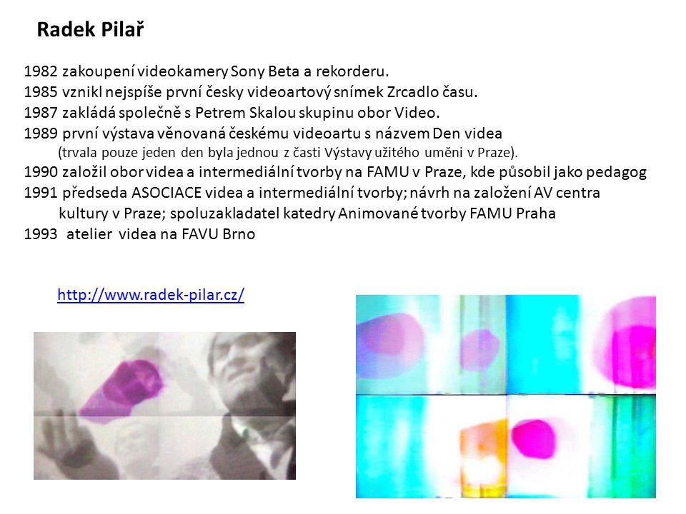 http://www.radek-pilar.cz/ Radek Pilař 1982 zakoupení videokamery Sony Beta a rekorderu.