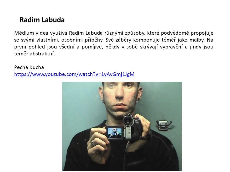 Radim Labuda Médium videa využívá Radim Labuda různými způsoby, které podvědomě propojuje se svými vlastními, osobními příběhy.