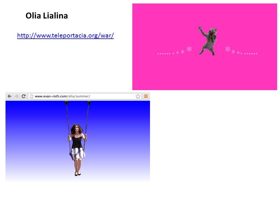 http://www.teleportacia.org/war/ Olia Lialina