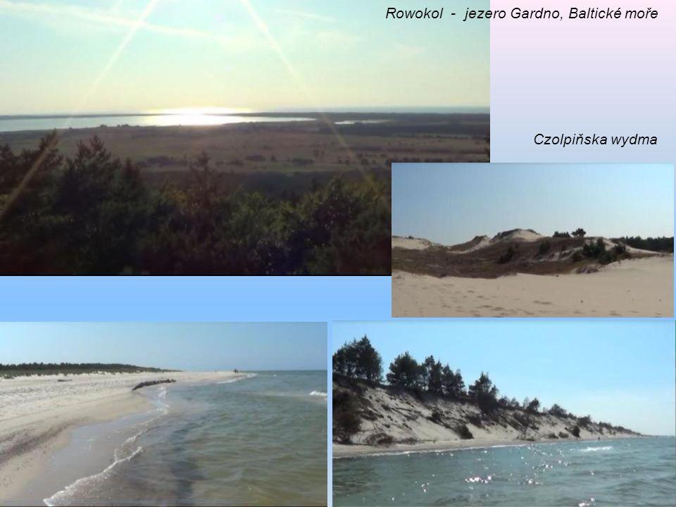 Rowokol - jezero Gardno, Baltické moře Czolpiňska wydma