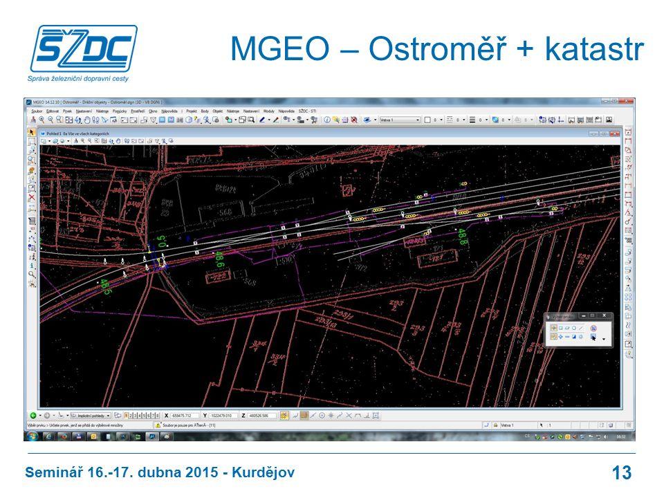 Seminář 16.-17. dubna 2015 - Kurdějov 13 MGEO – Ostroměř + katastr
