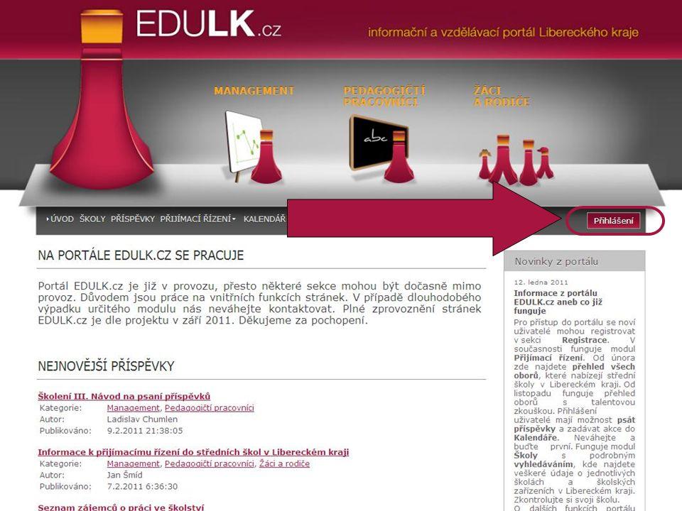 Přihlášení uživatelů do portálu Současný stav portálu EDULK.cz aneb co funguje...