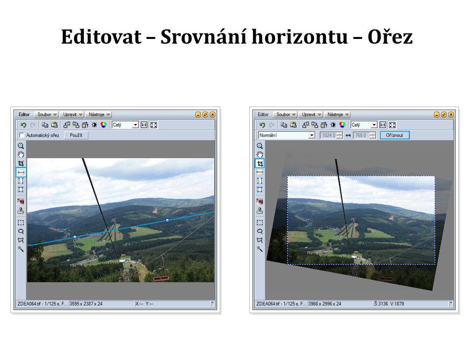 Editovat – Srovnání horizontu – Ořez