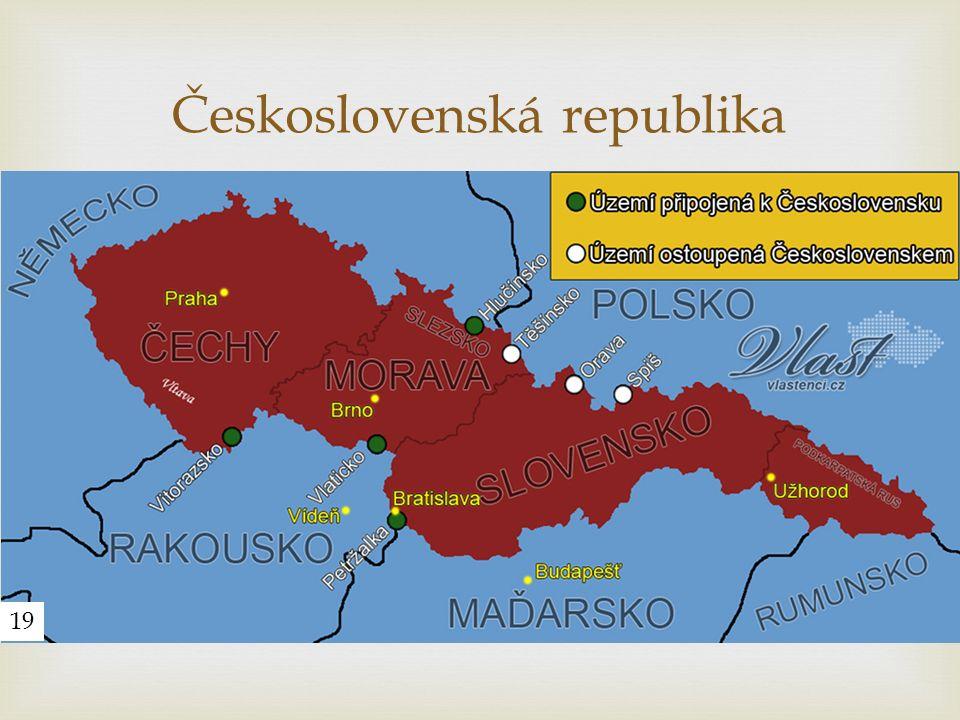  Československá republika 19