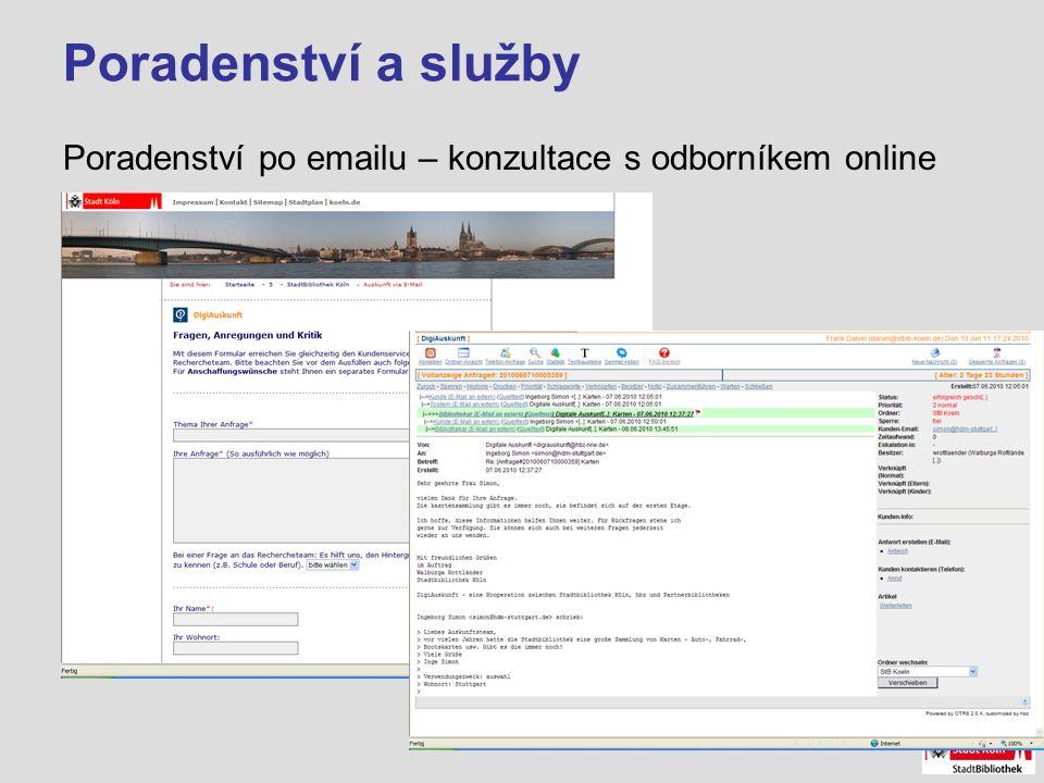 Poradenství a služby Poradenství po emailu – konzultace s odborníkem online