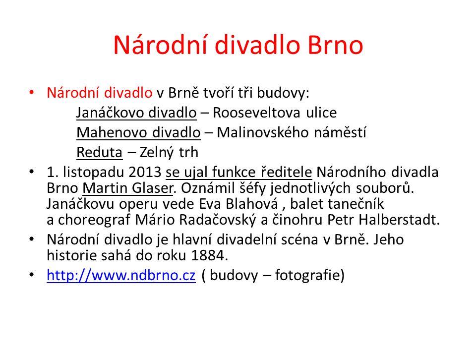 Městské divadlo Brno MDB bylo založeno koncem května 1945 pod názvem Svobodné divadlo.