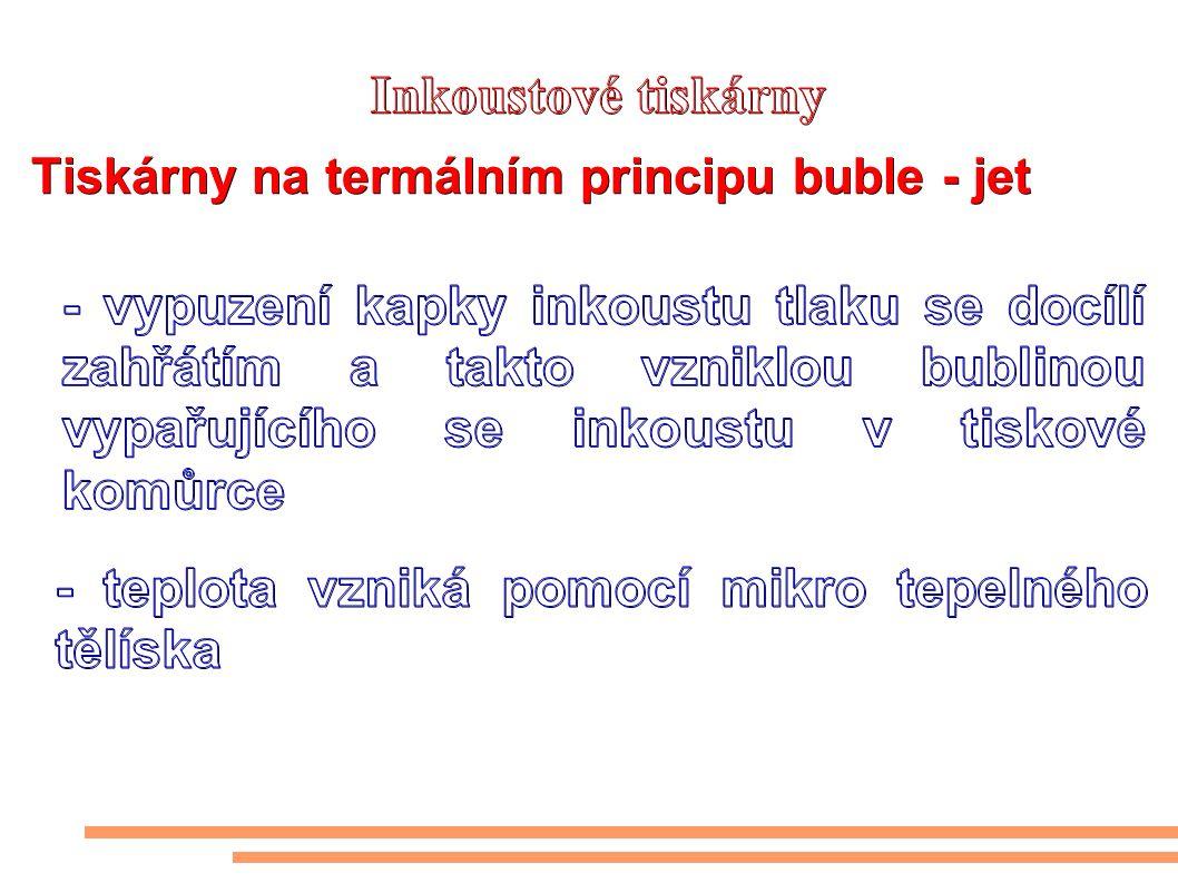 Tiskárny na termálním principu buble - jet