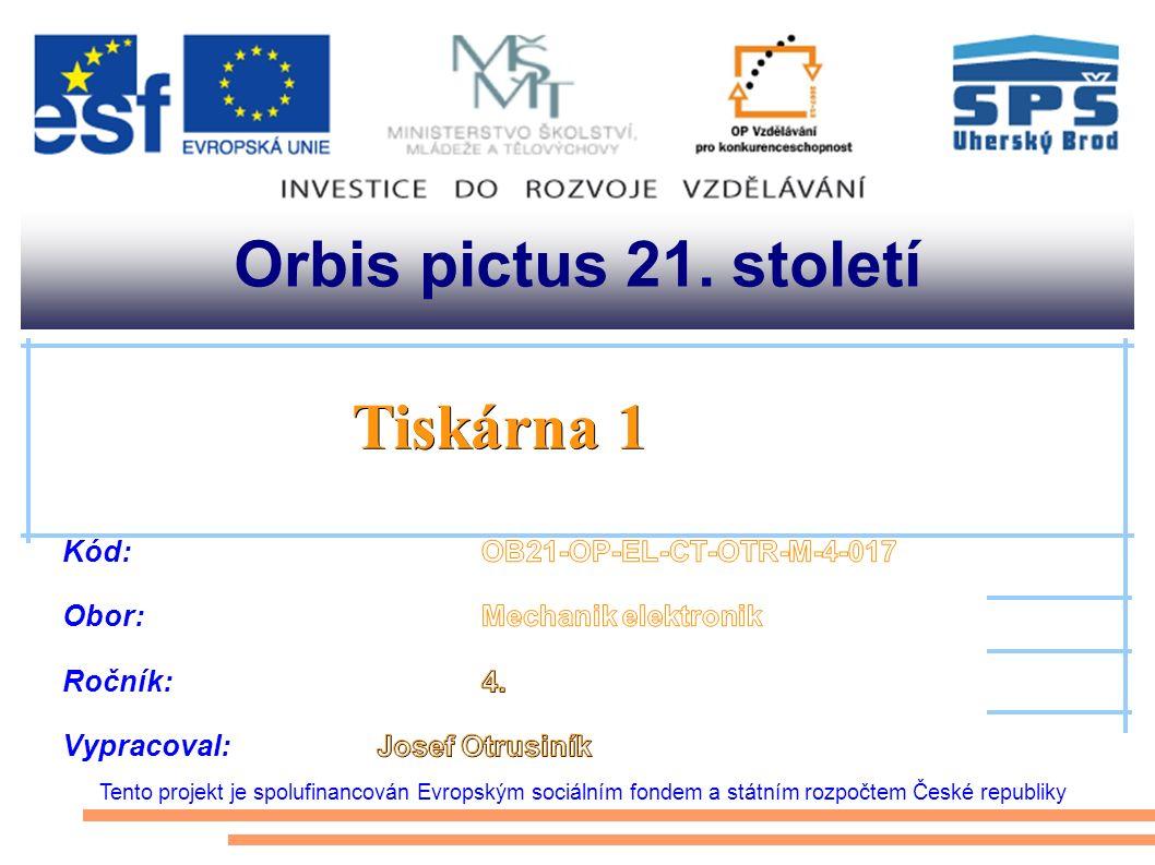 www.tiskarny.ic.cz Řádková tiskárna Řetězová tiskárna Znaková tiskárna