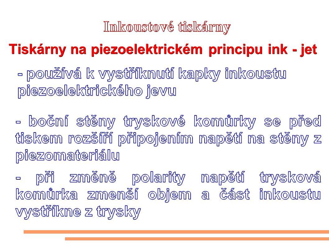 Tiskárny na piezoelektrickém principu ink - jet