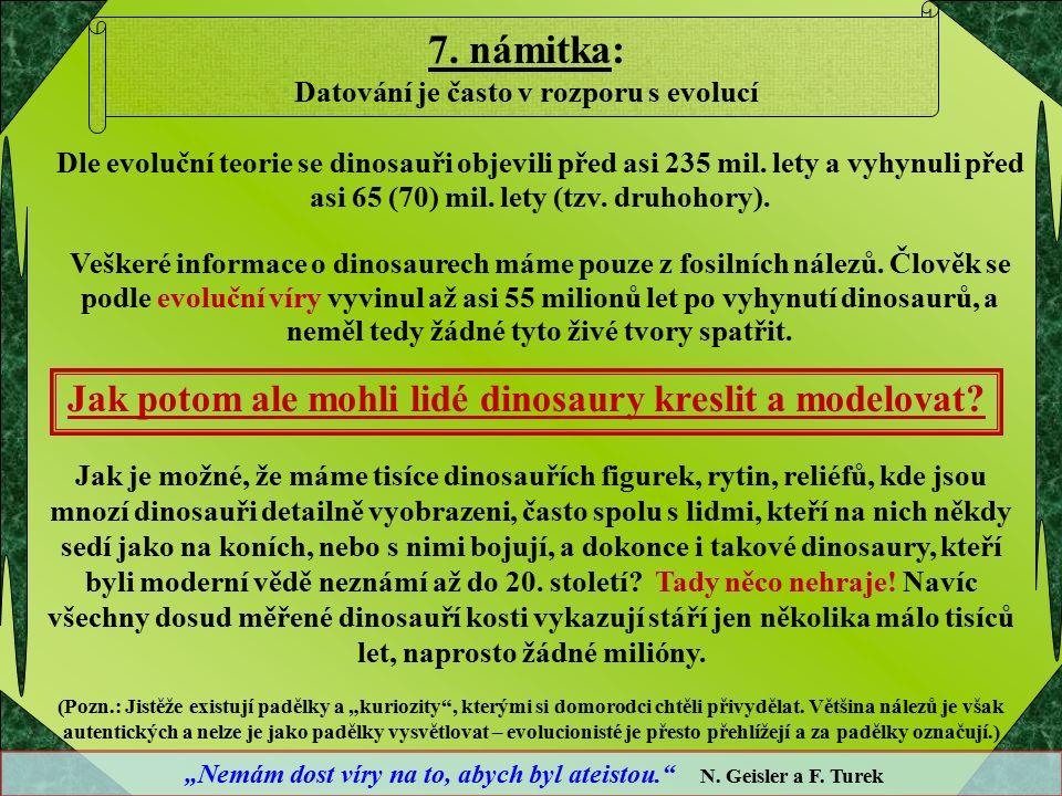 Dle evoluční teorie se dinosauři objevili před asi 235 mil.