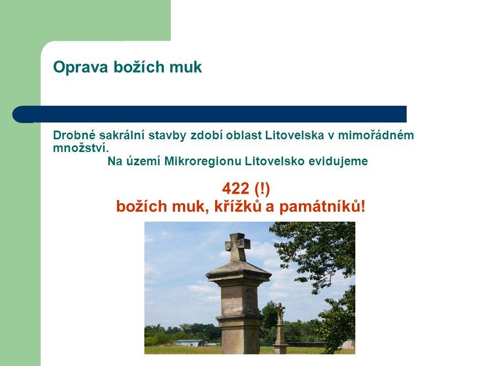 Oprava božích muk Drobné sakrální stavby zdobí oblast Litovelska v mimořádném množství.