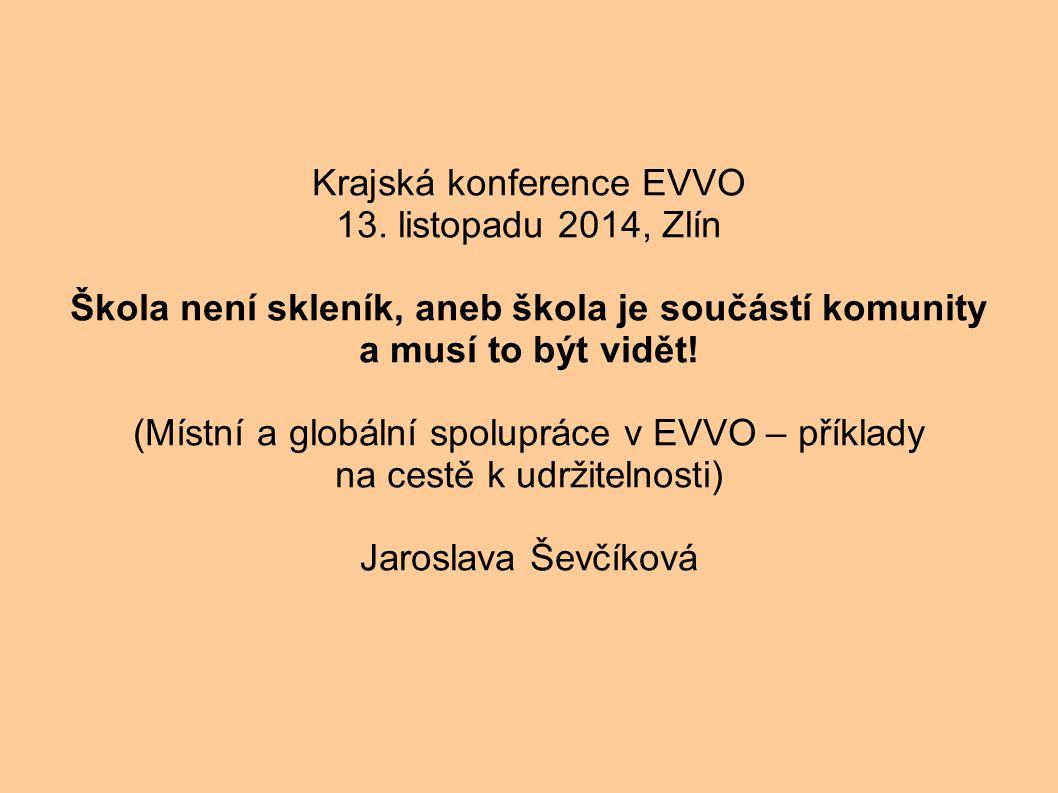 Krajská konference EVVO 13.