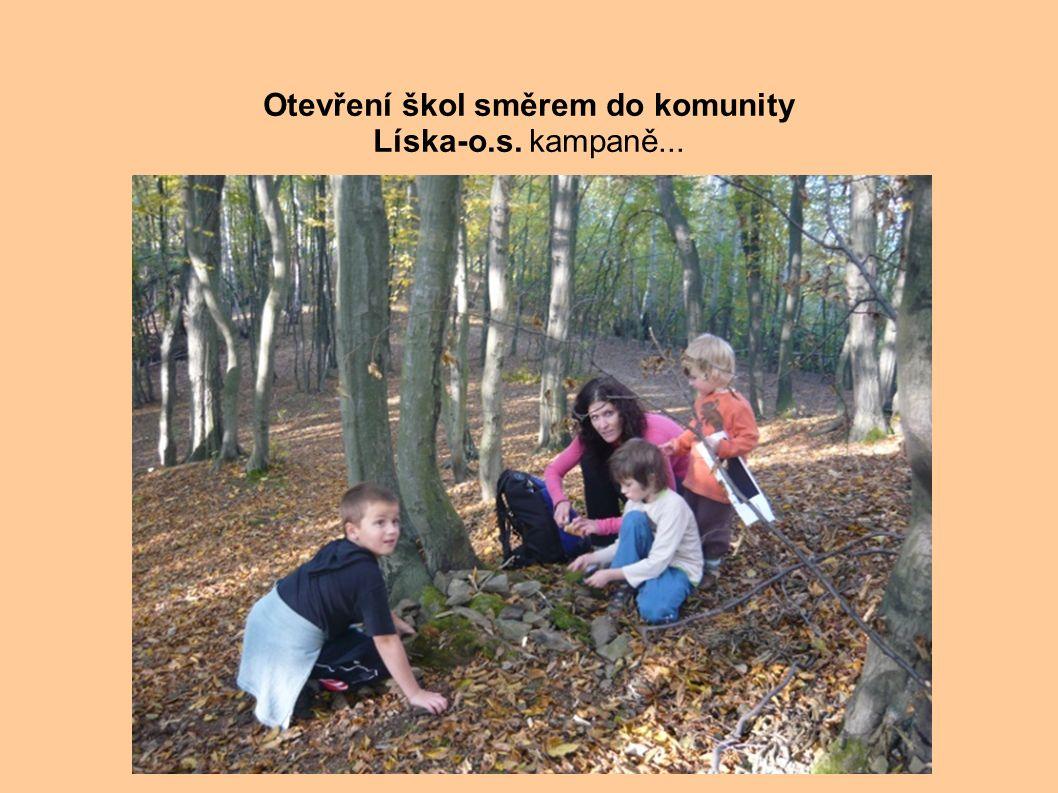 . Otevření škol směrem do komunity Líska-o.s. kampaně...