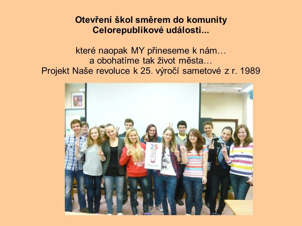 Otevření škol směrem do komunity Celorepublikové události...