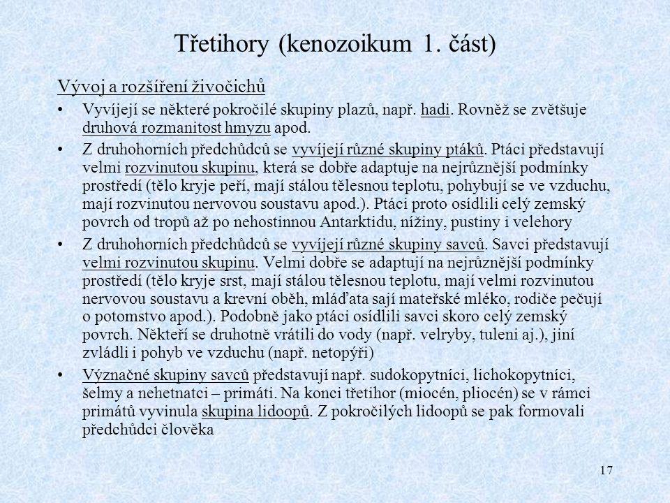17 Třetihory (kenozoikum 1.