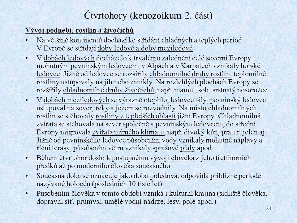 21 Čtvrtohory (kenozoikum 2.
