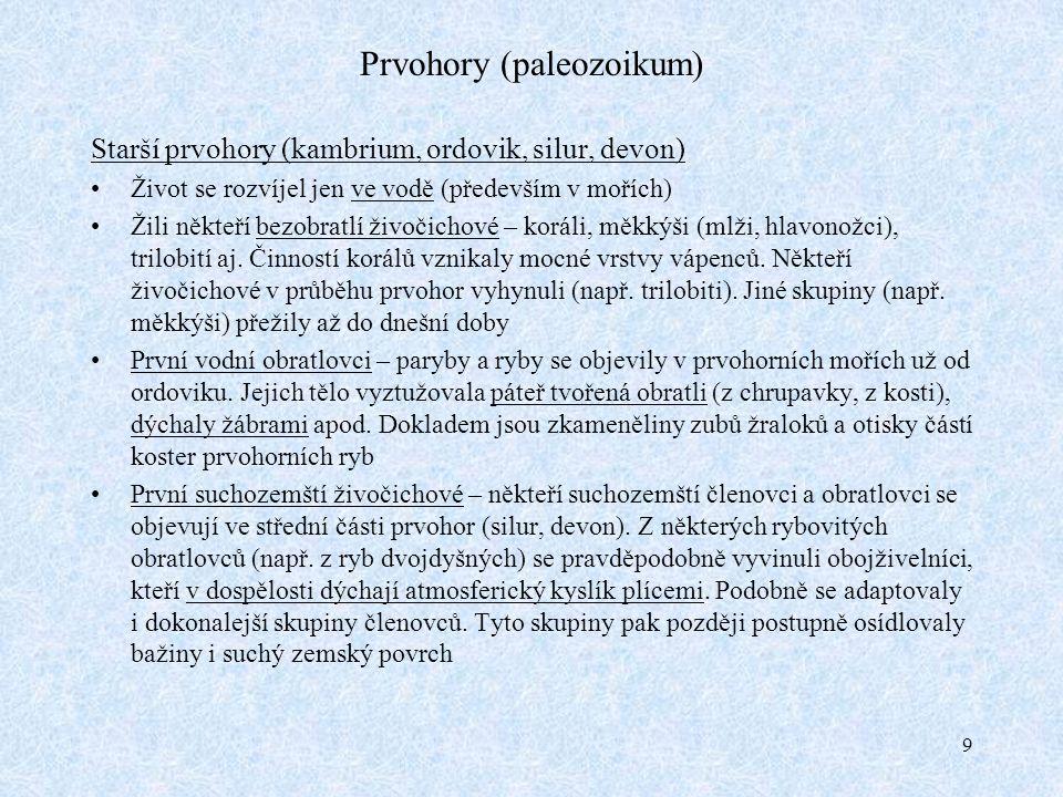 20 Čtvrtohory (kenozoikum 2.