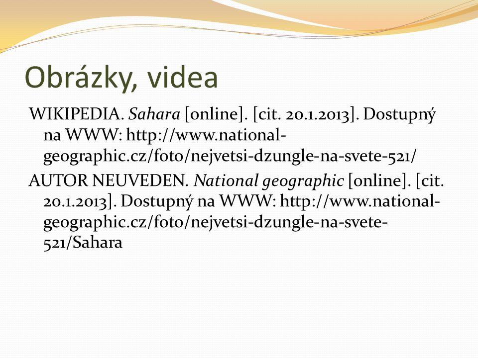 Obrázky, videa WIKIPEDIA. Sahara [online]. [cit.