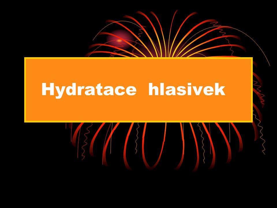 Hydratace hlasivek