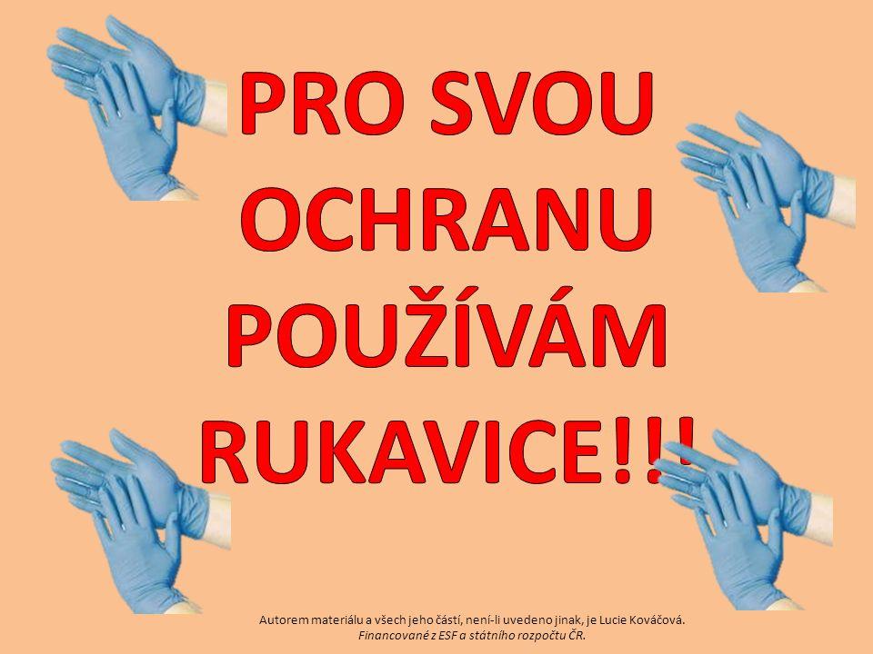 Autorem materiálu a všech jeho částí, není-li uvedeno jinak, je Lucie Kováčová. Financované z ESF a státního rozpočtu ČR.