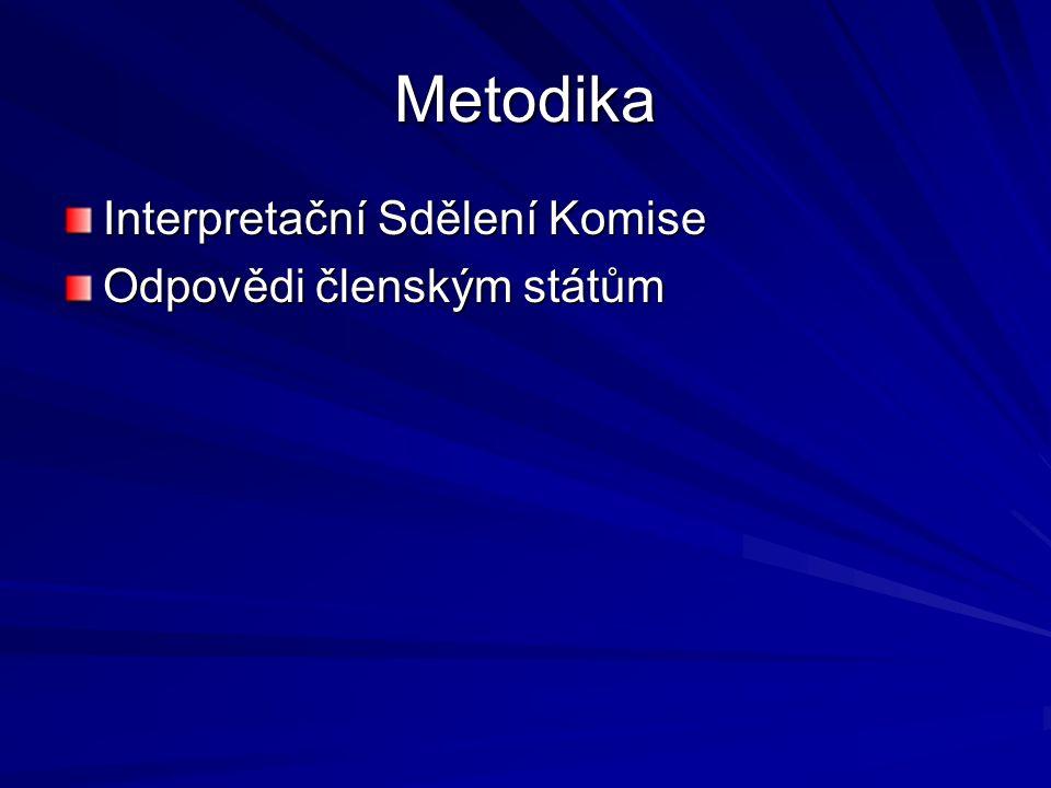 Metodika Interpretační Sdělení Komise Odpovědi členským státům