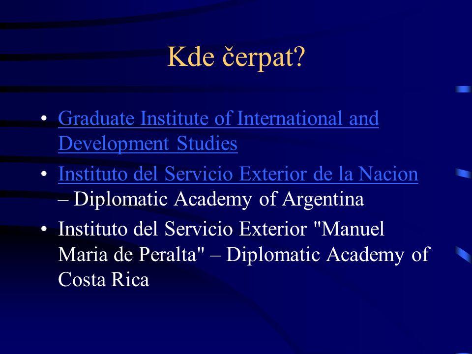 Kde čerpat? Graduate Institute of International and Development StudiesGraduate Institute of International and Development Studies Instituto del Servi