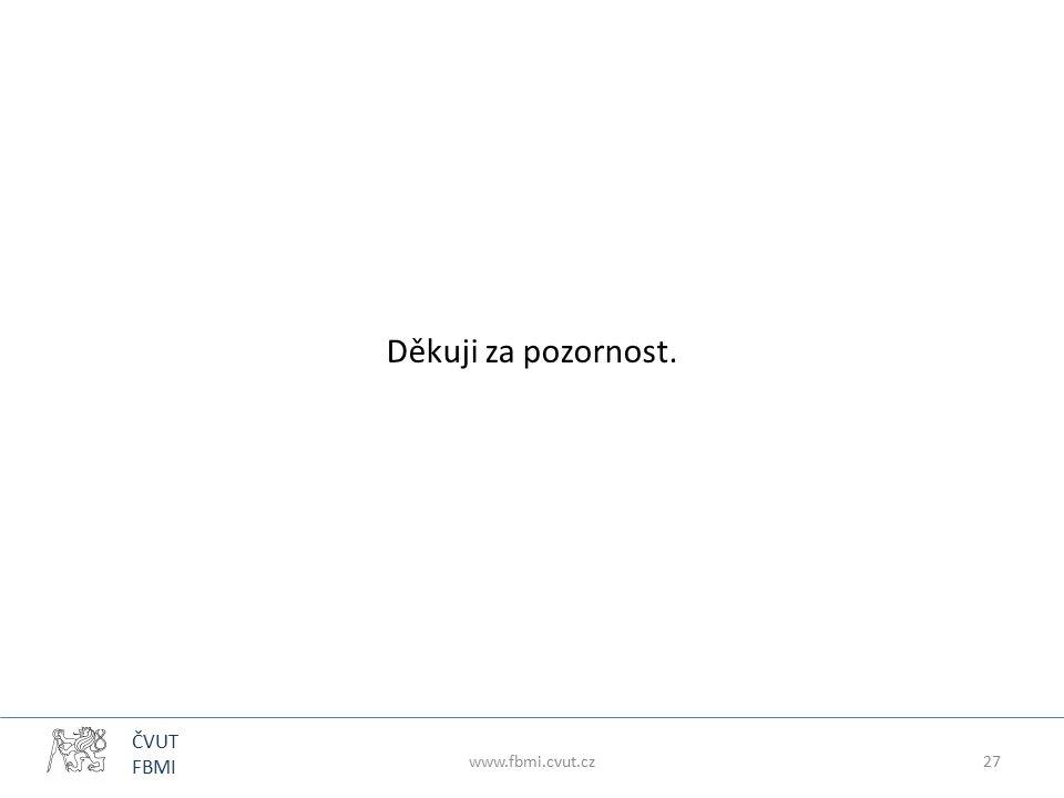 ČVUT FBMI Děkuji za pozornost. www.fbmi.cvut.cz27