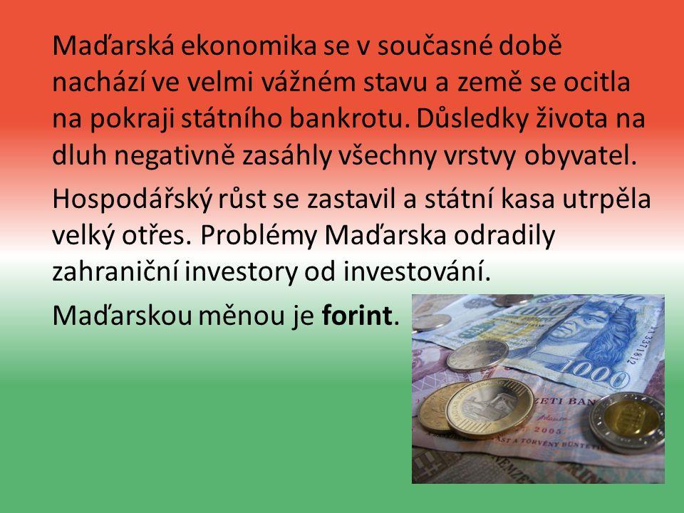 Maďarská ekonomika se v současné době nachází ve velmi vážném stavu a země se ocitla na pokraji státního bankrotu.