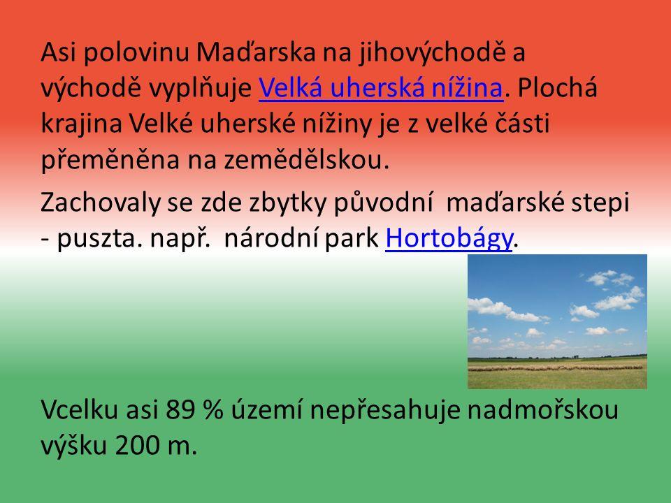 Asi polovinu Maďarska na jihovýchodě a východě vyplňuje Velká uherská nížina.